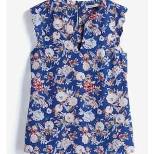 41 Hawthorn Tops - Stitch Fix- Dawney Scallop Trim Floral Blouse